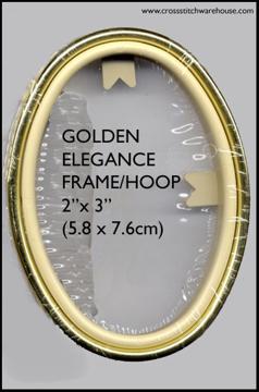 "Picture of FRAMES - Golden Elegance Oval 2"" x 3"""