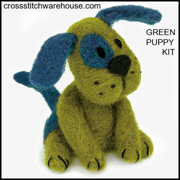 Picture of BABY TOY - Green Puppy Kit  FELT