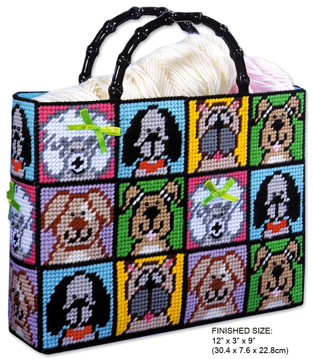 c493ebcdb Dog TOTE BAG. DESIGN WORKS CROSS STITCH PLASTIC CANVAS KIT