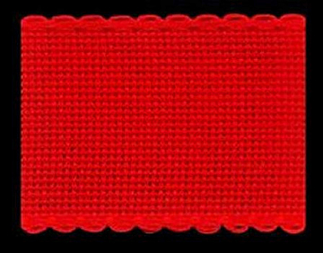 16ct. Christmas Red on Red AIDA BAND