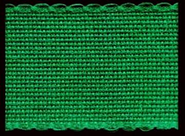16ct. Christmas Green on Green AIDA STITCHBAND